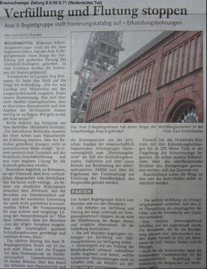 Zeitungsbericht Forderungen A2B